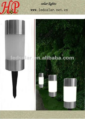 LED Stainless steel Solar Lawn Lights for Garden Decoration