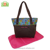 Eco-friendly functional light weight polka dot design mummy bag,mummy bag,mami bag for young mother