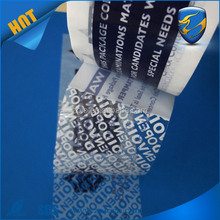 wholesale customized text open void adhesive seal tape PET packing tamper proof tape for shipping cartons