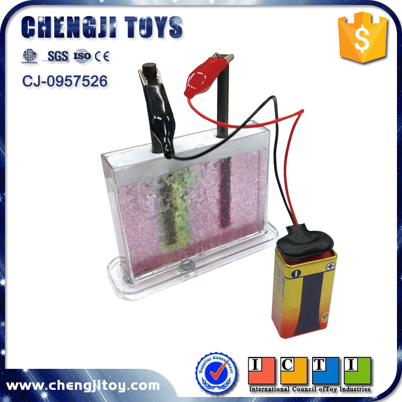 Education toy set electrolysis game for kids physics experiment kit