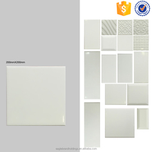 200x200 Foshan pure white tile more design rest room and bathroom ceramic indoor wall tiles