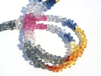 Multi Sapphire Faceted Drops