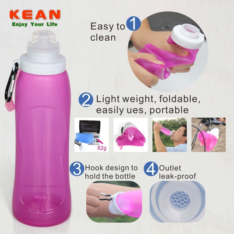 Portable Silicone Bottle folding travel case