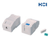 Taiwan Manufacturer 1 Port RJ45 Keystone Jack Combinable Outlet Box with Icon and Dust Door