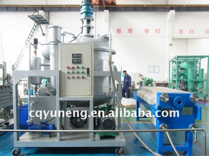 Used Car Engine Oil Refining Plant black oil to yellow color engine oil