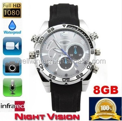 Digital Watch DVR Mini Waterproof Hidden Wrist Watch Camera HD 1080P Sport Watch Camera IR Night Vision