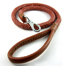 Braided Standard Pet Leather Dog Leash Training Lead for Medium and Large Dogs