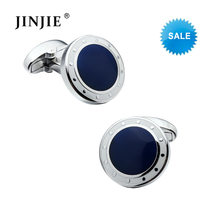 STC016 2 Color Luxury Mens Cufflinks High Quality Wedding Cuff links Silver Plated Designer Personalized Cuff link for Sale