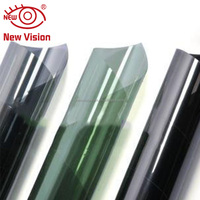 Clear vision window tinting decorative static cling glass film 1.52X30m sun shade reusable no glue window film for cars