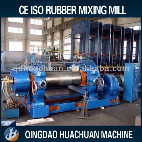 plastic two roll mixing mill/open rubber mixing machine