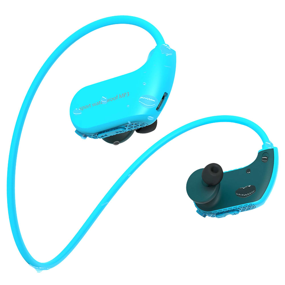 Swimming Diving Running IPX8 sport Waterproof Headphone <strong>mp3</strong> player HiFi Music with 8G Memory