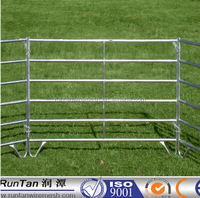 High quality galvanized pipe corral fence panels( factory, ISO 9001 certificate )