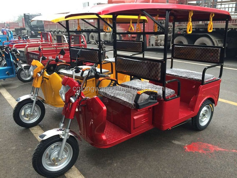 China Manufacturer passenger electric tricycle adults/800W 1000W battery powered Tuk bajaj three wheeler price