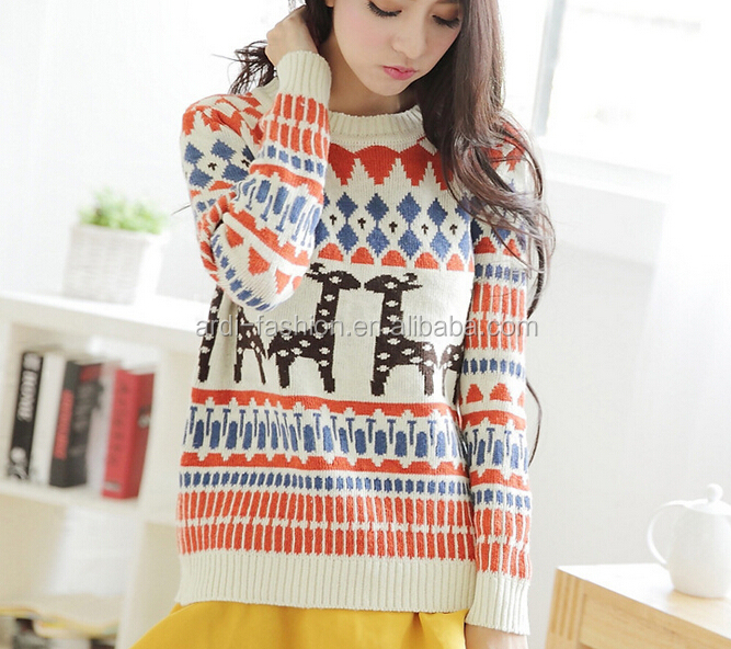 cheap sale wholesale ladies reindeer knitted christmas jumpers