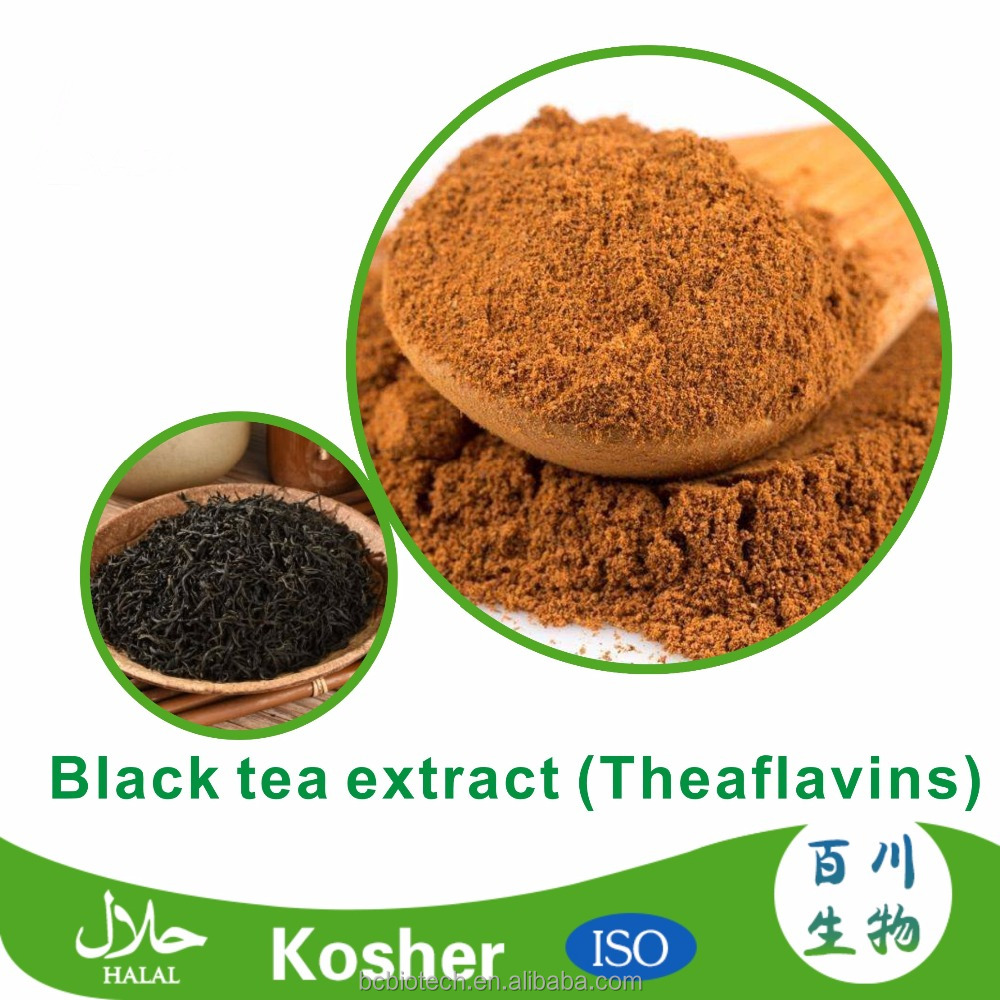 Factory Supply 100% Natural Black Tea Extract Theaflavin