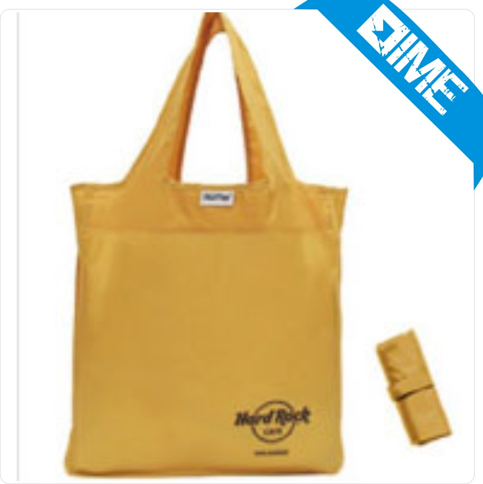 Customzied Logo 190T Polyester Handle Tote Shopping Bag