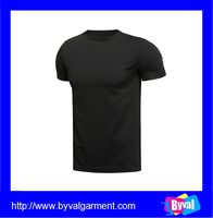 wholesale blank black dry fit t shirt high quality 100 polyester quick dry blank t shirt for men