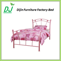 Simple new style design modern latest metal single kids beds