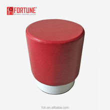 Modern fast food restaurant furniture McDonalds/KFC red PU leather low stool chair ottoman (FOH-17038Y)