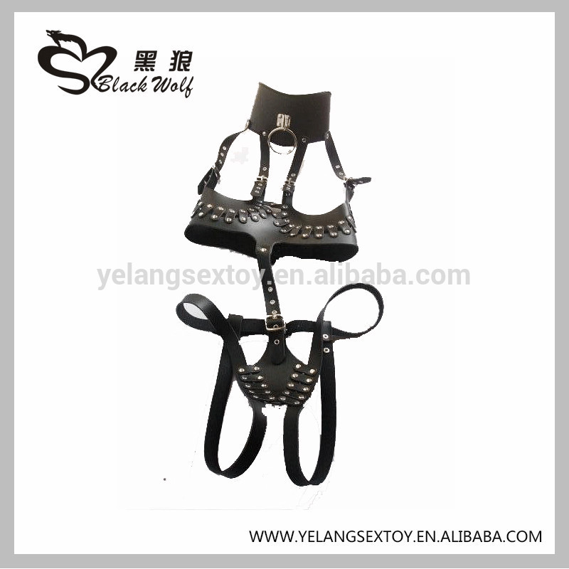 Full Body Restraints Bondage Leather Women Sex Harness