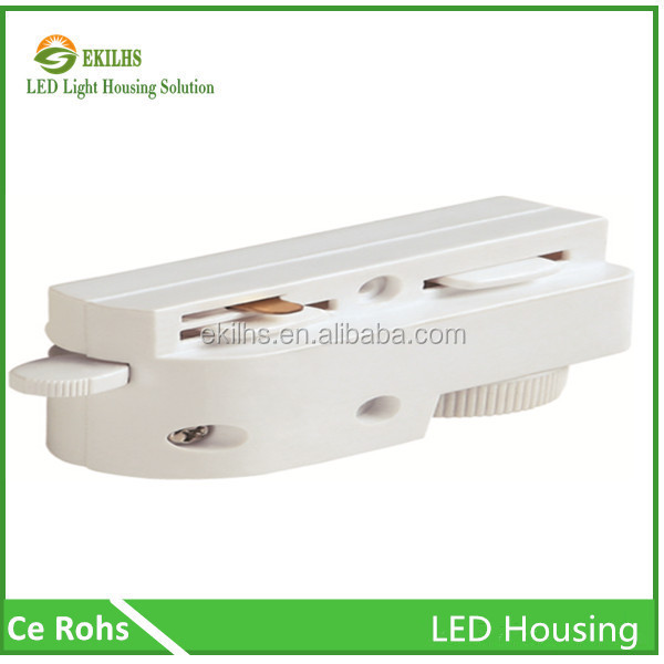 Popular Square 2 Line 2 Phases white/black color 2 line led tracking rail connectors