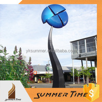 Large painted metal garden decorative windmills