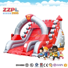 ZZPL Red Inflatable Slide for kids, Commercial Knight Inflatable Bouncer Slide for sale