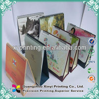 Customized full coloring 2014 Spiral bound desk calendar