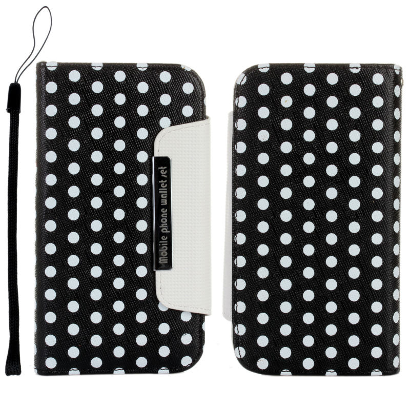 2 in 1 Detachable Polka Dots Wallet Leather Case For Samsung Galaxy S3 i9300