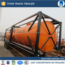hot sale 40ft chemical liquid transport tank containers