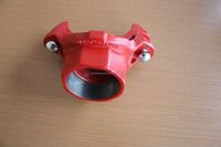 UL FM approval ductile iron grooved pipe fittings and couplings threaded/grooved mechanical cross/tee grooved threaded outlet