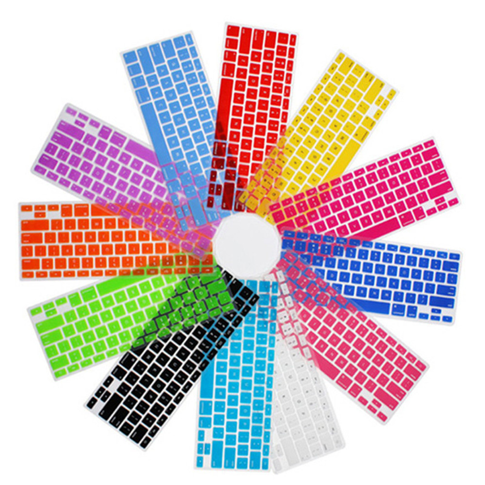 Colorful Tablet Soft Silicone Keyboard Protector Cover For Macbook pro 13 15 With Touch Bar