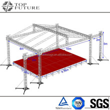Easy setup and dismantle spigot square truss for event