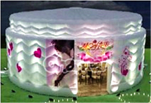 Inflatable Birthday Cake Tent for Party or Wedding Party