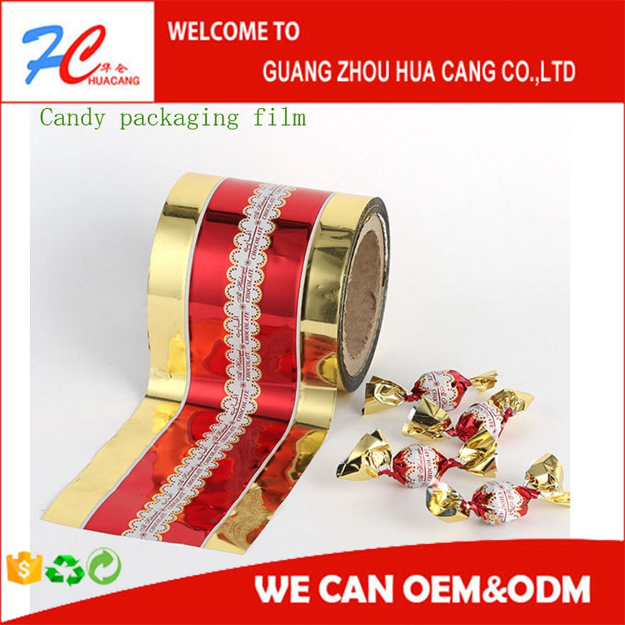 blank clear / customized printing pvc twist film for candy wrapper