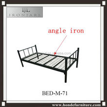 Strong Army Military Camping Cots Angle Iron Single Steel Bed Designs Y