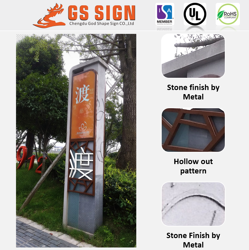 Customize slim acrylic advertising sign board