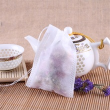Manufacture Customer Clear White Non-woven Fabric Herbal Tea Bags with String Flower Tea