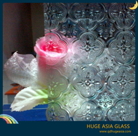 Clear Flora Patterend Glass for Interior Design and Decoration