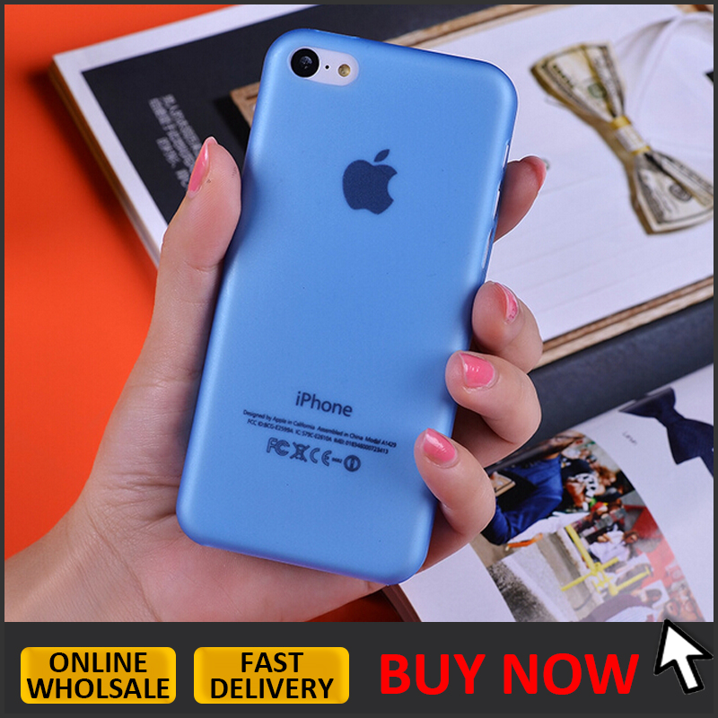Cheap 0.3mm slim ultra thin PP matte phone case for iphone 5c clear back cover