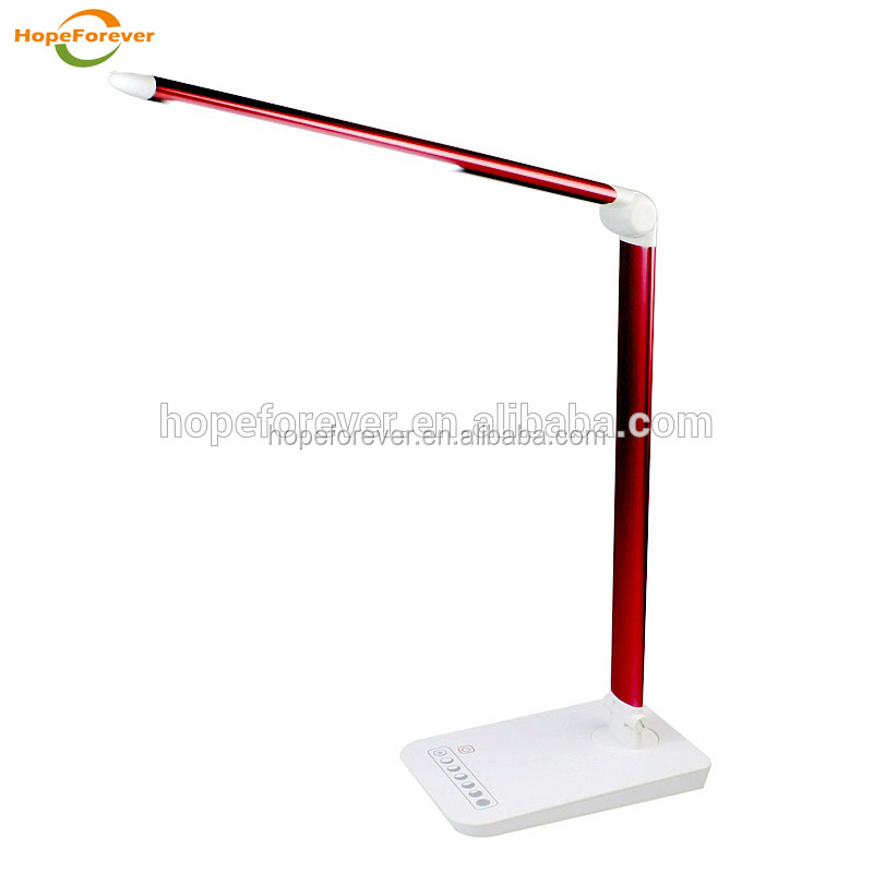 2017 NEW products Eye protection Metal aluminum colorful Desk bedroom table lamp Led portable Table lamp