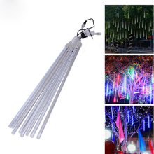 color changing outdoor christmas led string lights 50cm led rain drop tube Tree Party decoration light