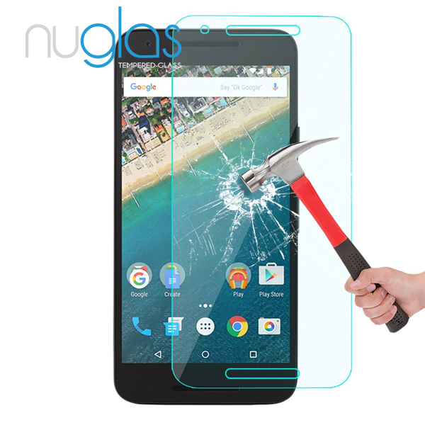 Nuglas Clear Anti-shock 9H 2.5D Cell Phone/Mobile Phone lcd display Premium tempered glass screen protector for Nexus 6p