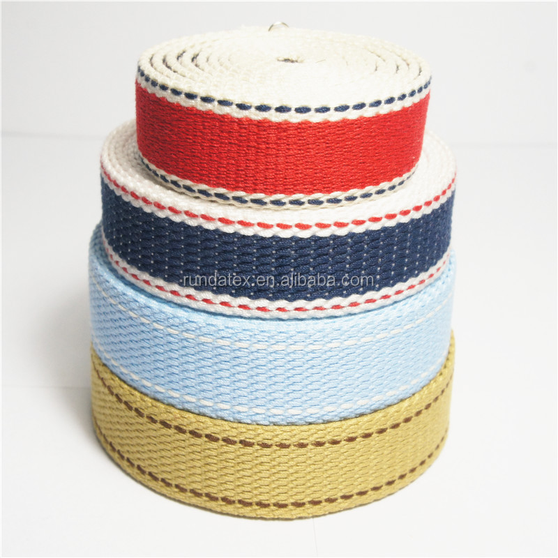 3.5cm eco-friendly bag accessory colorful strip polyester woven webbing