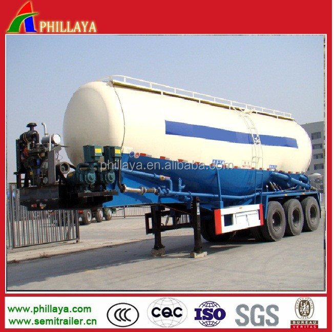 2015Top Ranking Bulk Cement Tank Semi Trailer with air compressor and desiel engine