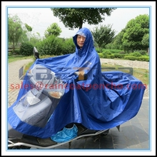 Cheap wholesale rain poncho in pouch with hat