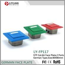 LY-FP117 Hot Sales RJ45 Faceplate Wall Outlet Network Information Outlet/ Wall Information Face Plates