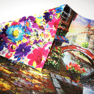 Floral Printed Waterproof Neoprene Fabric