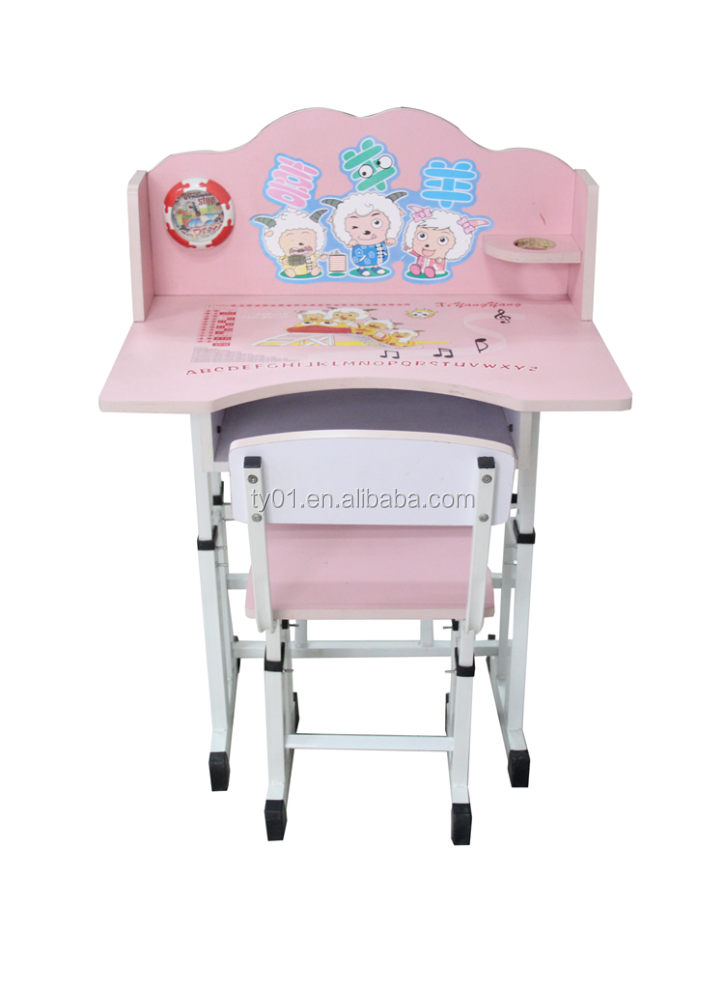 Newest adjustable kids study table and chair child furniture buy adjustable kids study table - Kids study table and chair ...