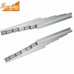 aluminum section folding extension table slide mechanism for dining table slides.
